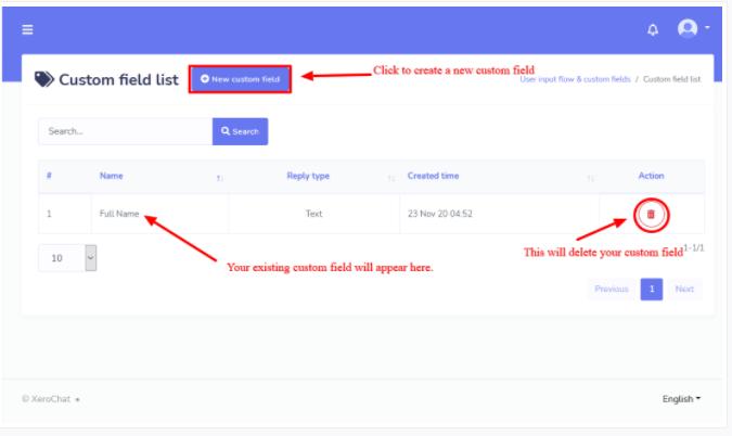 User Input Flow and Custom Fields