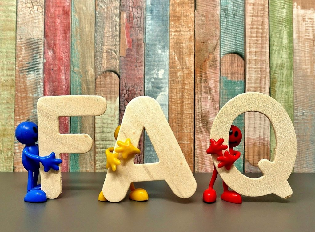 Frequently asked questions on chatbot